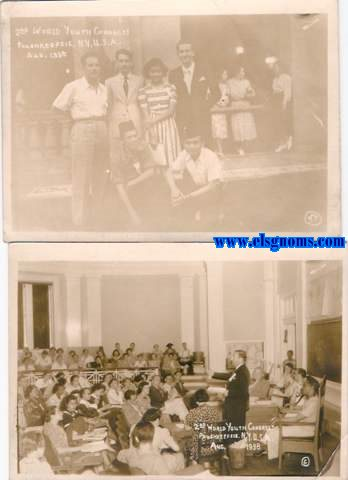 2 nd. World Youth Congress. Poughkeepsie N.Y. U.S.A. Aug 1938.